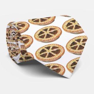 Vintage Foods Dessert, Fresh Baked Pecan Pie Neck Tie