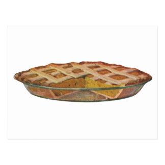 Vintage Foods, Dessert, Thanksgiving Pumpkin Pie Postcard