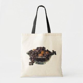 Vintage Foods, Fruit and Nuts, Walnuts and Almonds Tote Bag