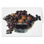 Vintage Foods, Fruit and Nuts, Walnuts and Almonds Greeting Card