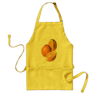 Vintage Foods, Fruit Organic Fresh Healthy Oranges Adult Apron