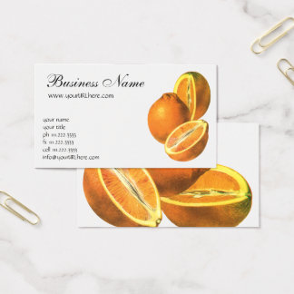 Vintage Foods, Fruit Organic Fresh Healthy Oranges Business Card