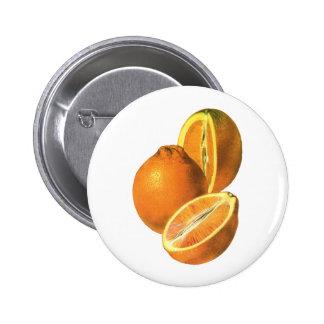 Vintage Foods, Fruit Organic Fresh Healthy Oranges Button