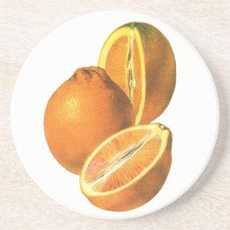 Vintage Foods, Fruit Organic Fresh Healthy Oranges Coaster