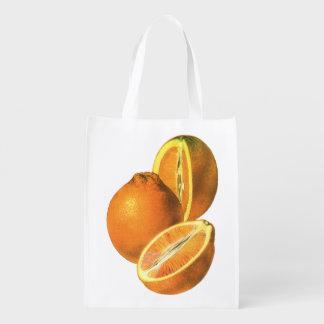 Vintage Foods, Fruit Organic Fresh Healthy Oranges Grocery Bags
