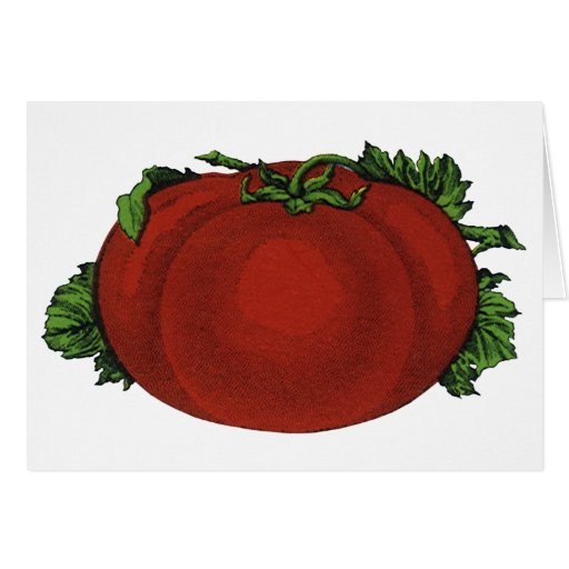 Vintage Foods, Fruits, Vegetables, Red Ripe Tomato Greeting Card