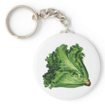 Vintage Foods, Green Leaf Lettuce Vegetables Keychain
