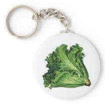Vintage Foods, Green Leaf Lettuce Vegetables Keychain