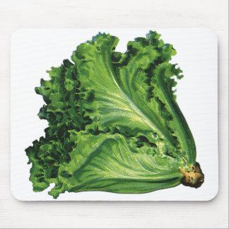 Vintage Foods, Green Leaf Lettuce Vegetables Mouse Pad