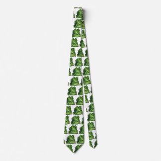 Vintage Foods, Green Leaf Lettuce Vegetables Neck Tie