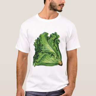 Vintage Foods, Green Leaf Lettuce Vegetables T-Shirt