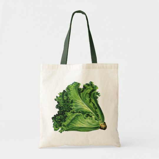 Vintage Foods, Green Leaf Lettuce Vegetables Tote Bag