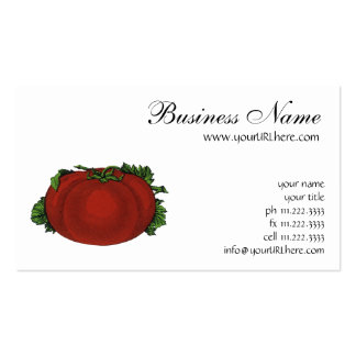 Vintage Foods, Ripe Tomato, Fruits and Vegetables Double-Sided Standard Business Cards (Pack Of 100)