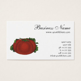 Vintage Foods, Ripe Tomato, Vegetables and Fruits Business Card