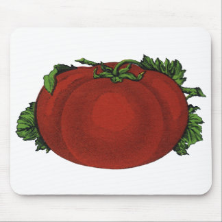 Vintage Foods, Ripe Tomato, Vegetables and Fruits Mouse Pad
