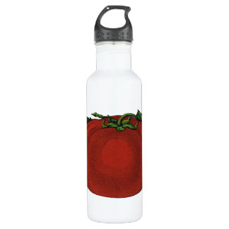 Vintage Foods, Ripe Tomato, Vegetables and Fruits Stainless Steel Water Bottle