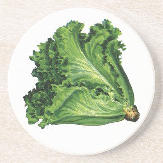 Vintage Foods, Vegetables, Green Leaf Lettuce Coaster