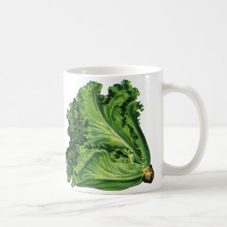 Vintage Foods, Vegetables, Green Leaf Lettuce Classic White Coffee Mug