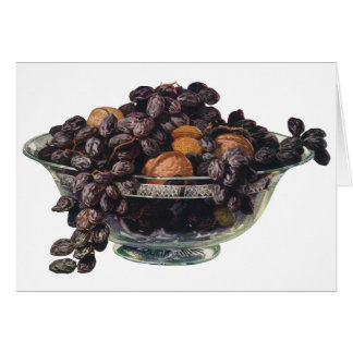 Vintage Foods, Walnuts and Almonds, Fruit and Nuts Card