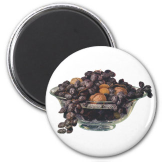 Vintage Foods, Walnuts and Almonds, Fruit and Nuts Magnet