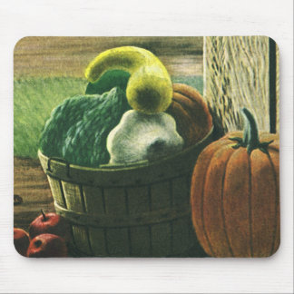 Vintage Foods, Winter Squash, Pumpkin and Apples Mouse Pad