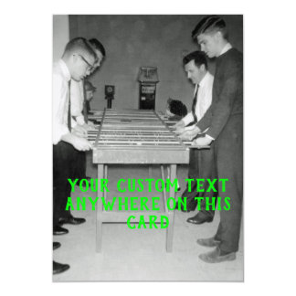 VINTAGE FOOSBALL FUZBOLL PHOTO table FOOTBALL Card
