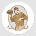 Vintage Football Classic Round Sticker