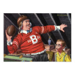 Vintage Football Dad and Son Custom Announcements