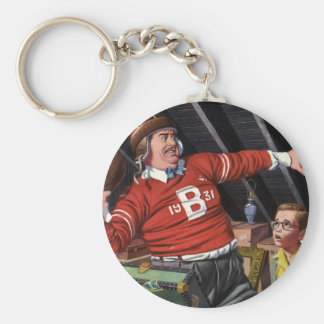 Vintage Football Dad and Son Keychains