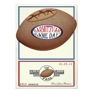 Vintage Football Field Pass Bar Mitzvah Card