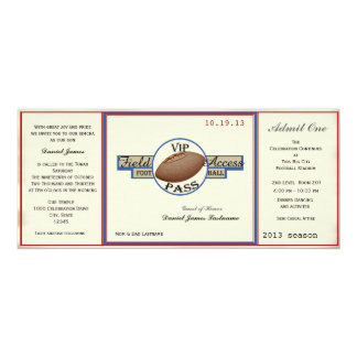 Vintage Football Field Pass Card