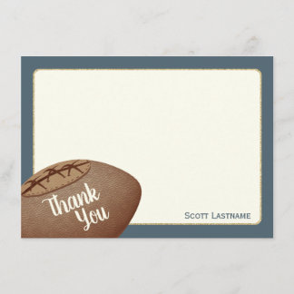 Vintage Football Flat Card Thank You Note
