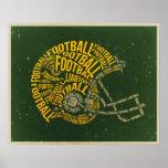 Vintage Football Helmet Poster