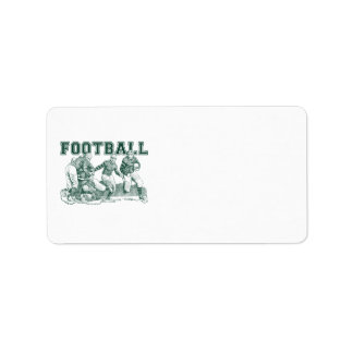 Vintage Football Illustration Gifts and Tees Labels