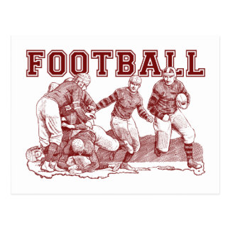 Vintage Football Illustration Gifts and Tees Post Cards