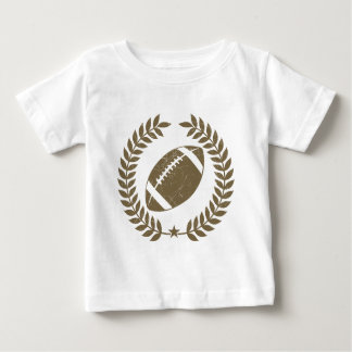 Vintage Football Olive Leaf and Star Baby T-Shirt