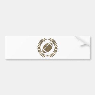 Vintage Football Olive Leaf and Star Bumper Sticker