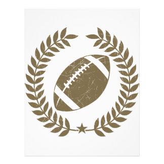 Vintage Football Olive Leaf and Star Full Color Flyer