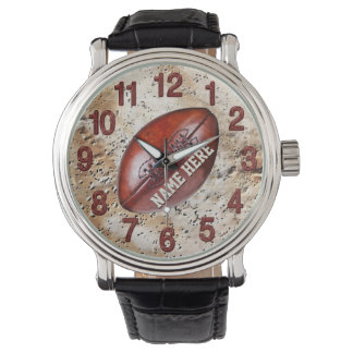 Vintage Football Personalized Football Watches