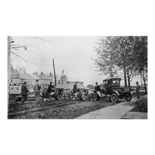 Vintage Ford Tractors and Pick Up Truck Print