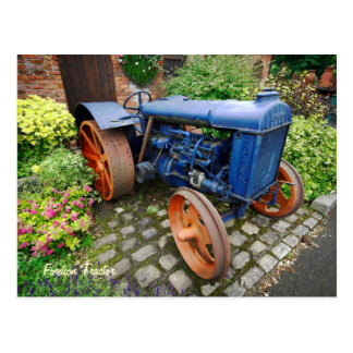 Vintage Fordson Tractor Bredbury Hall Postcards