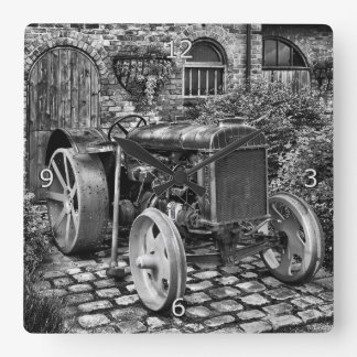 Vintage Fordson Tractor, Bredbury Hall Square Wall Clock