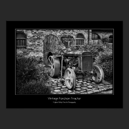 Vintage Fordson Tractor, Fine Art Photograph Posters