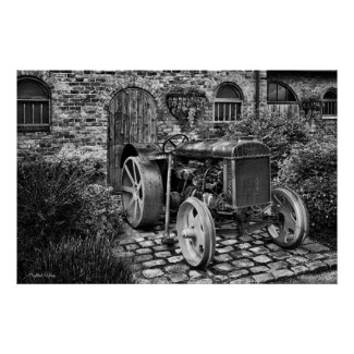 Vintage Fordson Tractor poster print / canvas print