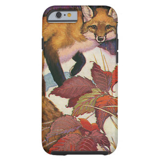 Vintage Forest Creatures Red Fox Wild Animal Tough iPhone 6 Case