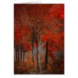 Vintage Forest Scene Card
