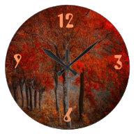 Vintage Forest Scene Clock