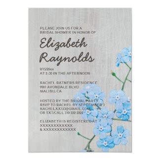 Vintage Forget-Me-Not Bridal Shower Invitations