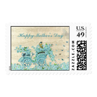 Vintage Forget Me Not Carriage - Mother's Day Postage