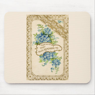 Vintage Forget-Me-Not Mouse Pad